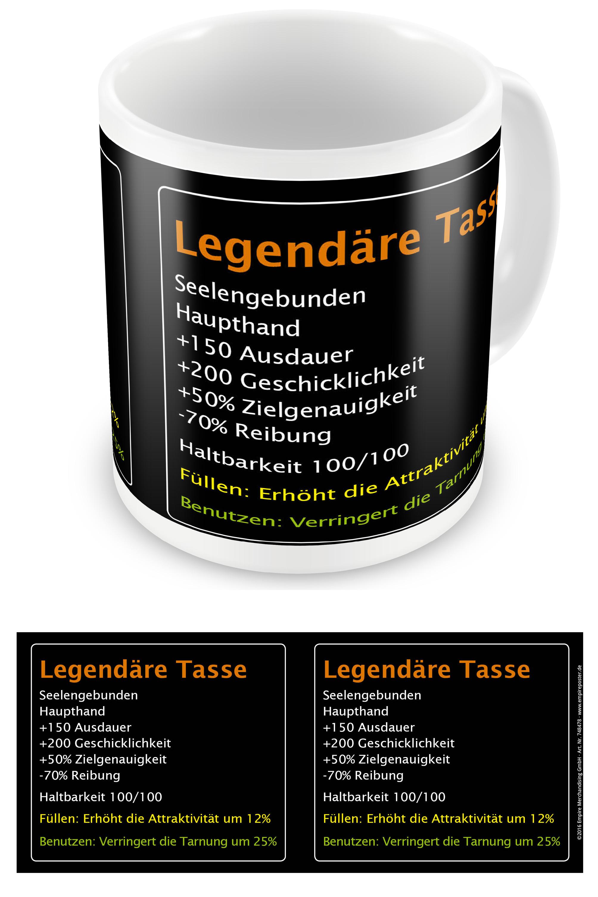 on sale 07109 cc7d0 Legendär - Legendäre Tasse - Lizenz Tassen - Ø8,5 H9,5