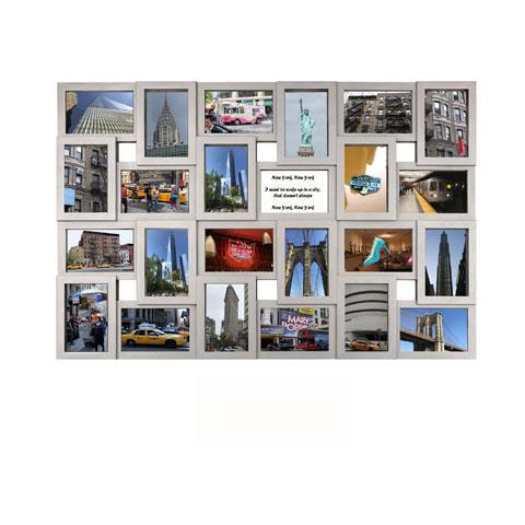 collage bilderrahmen modena multishot silber. Black Bedroom Furniture Sets. Home Design Ideas