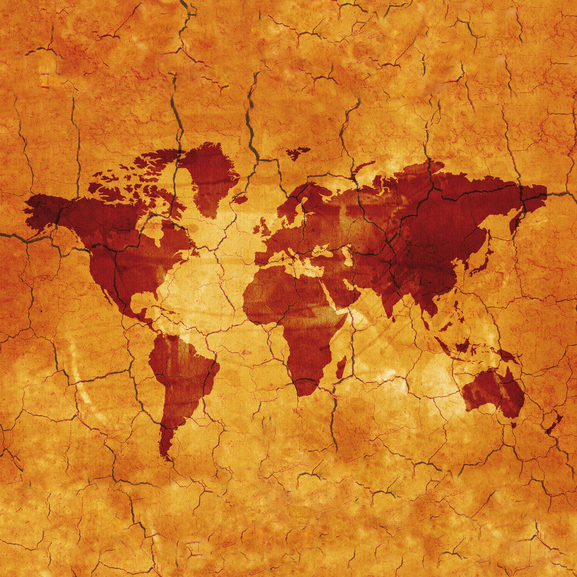 Landkarten - Antike Karte - Vintage Map - Gerahmte Topseller - 33x33x2,2
