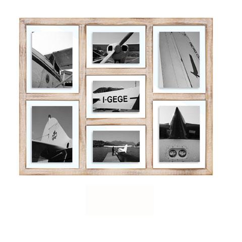 collage bilderrahmen san diego wei vintage multishot wechselrahmen 61 5x50. Black Bedroom Furniture Sets. Home Design Ideas
