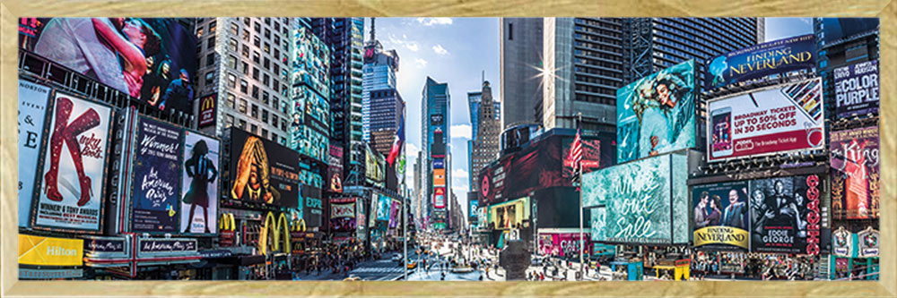 Panoramic Grösse 91,5x30,5 cm Slim Poster Druck Times Square New York