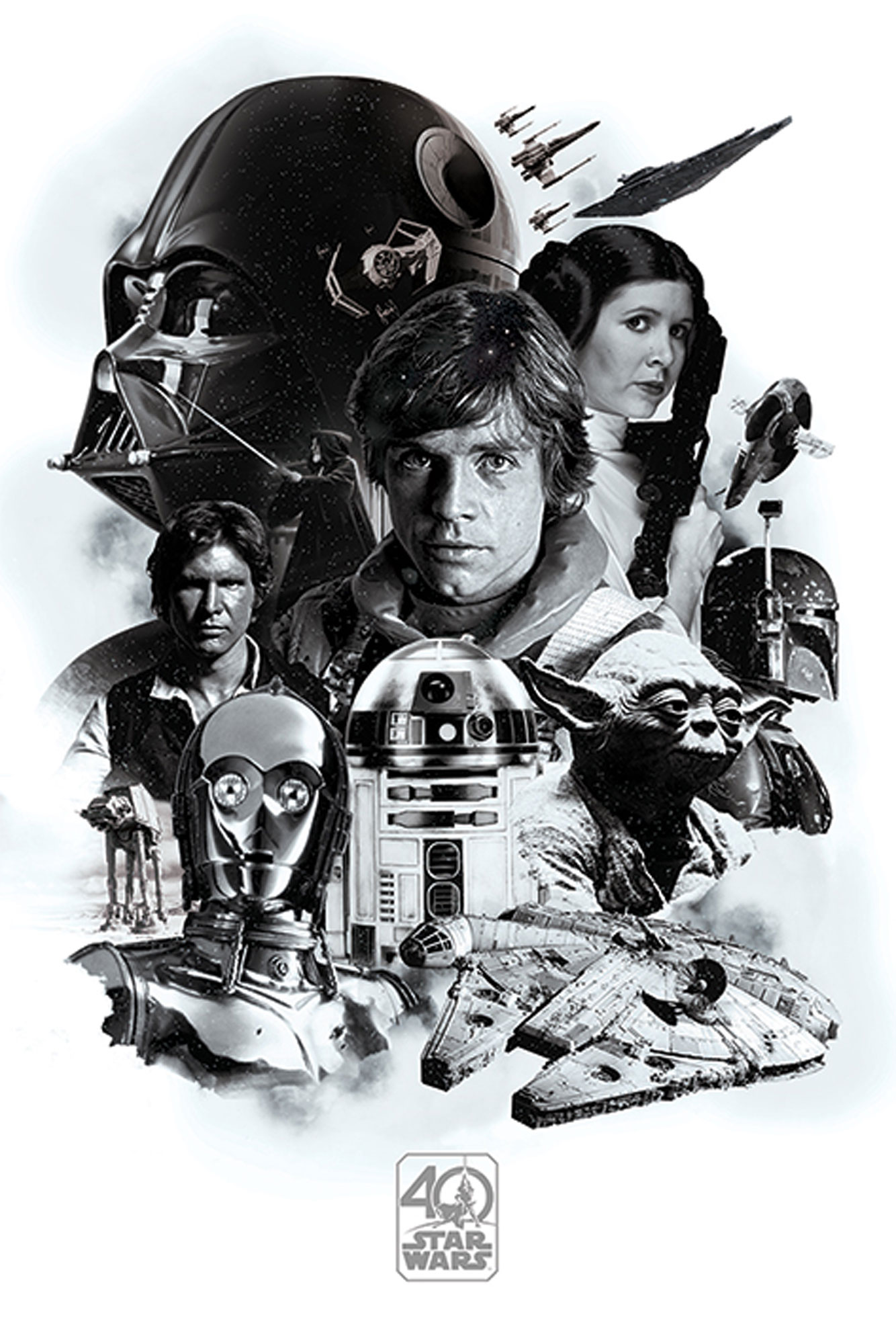 Star Wars - 40th Anniversary - Montage - Poster - 61x91,5