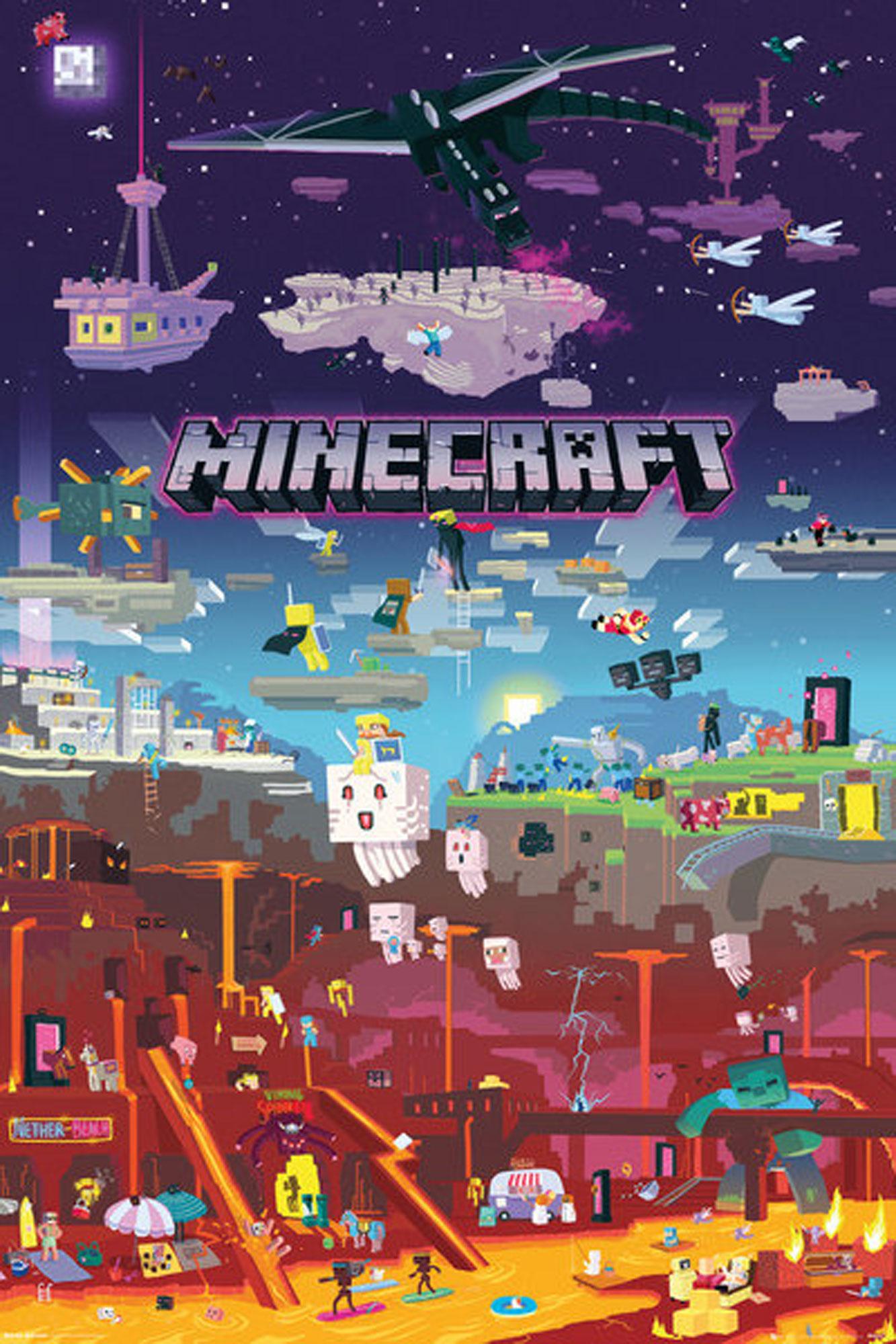 Minecraft - World Beyond - Poster - 61x91,5