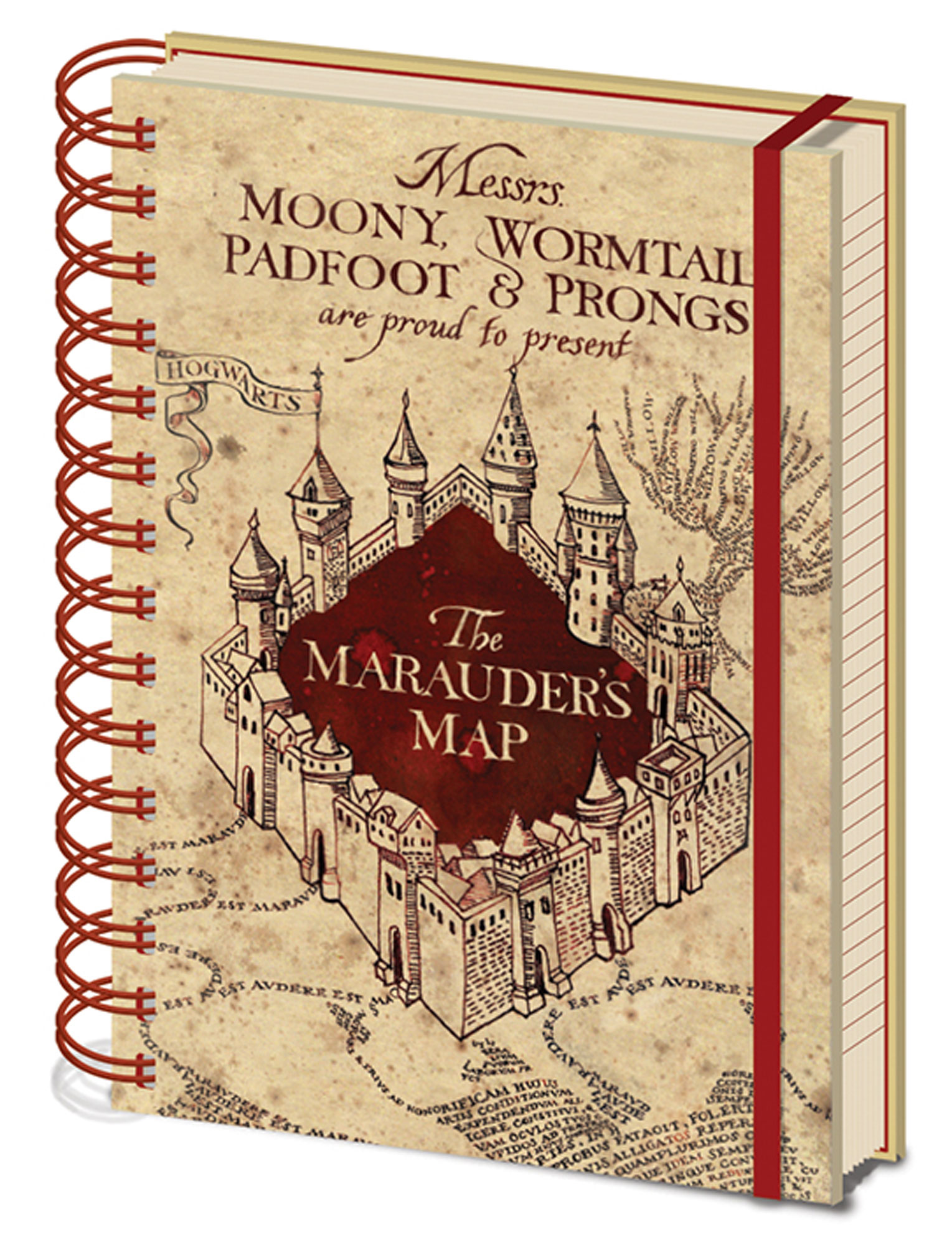 Harry Potter - Notizbuch - The Marauders Map