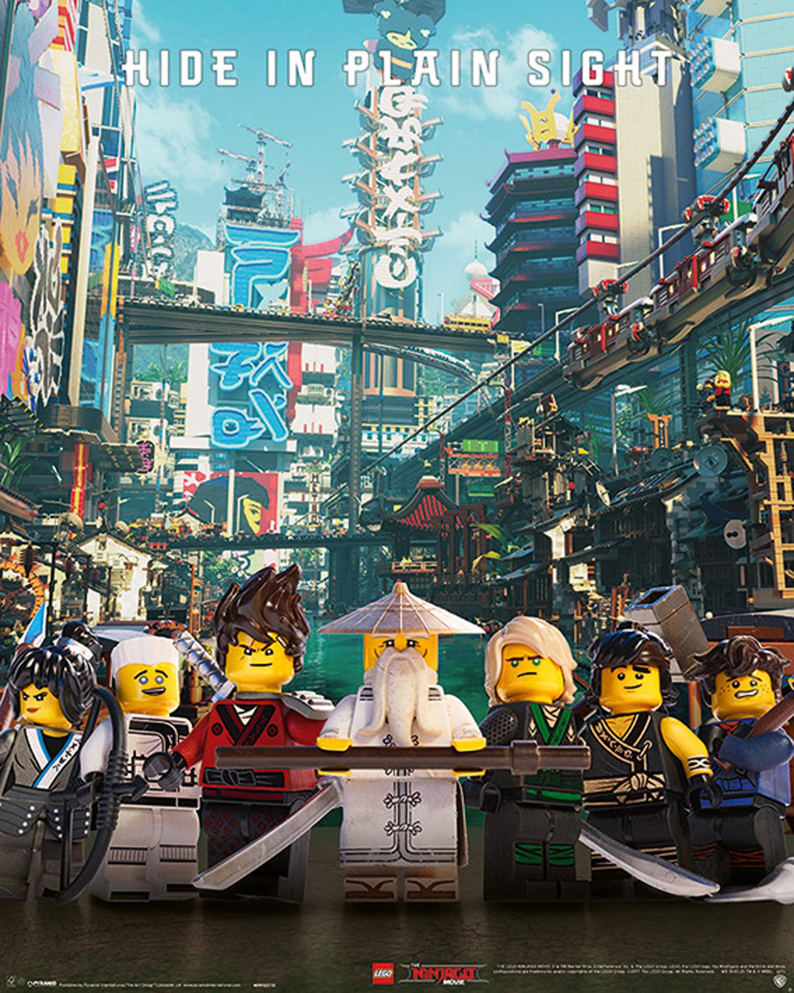 lego ninjago  movie  hide in plain sight  miniposter