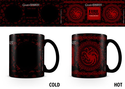 Game Of Thrones - Heat-Changing Mugs - Targaryen