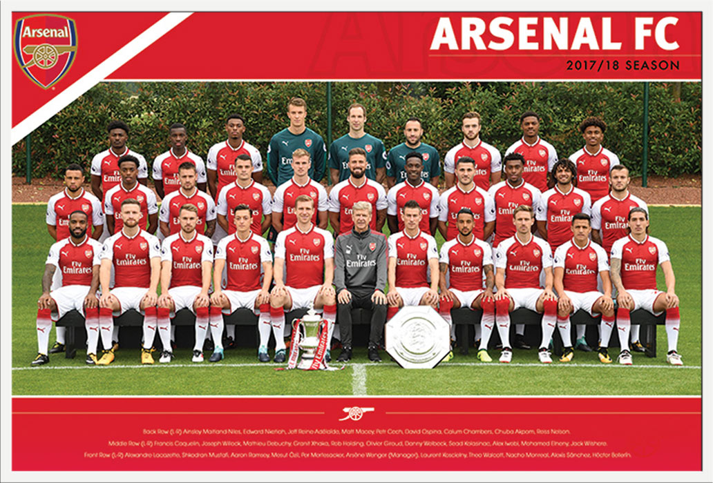 Team Photo 17//18 Poster Plakat Druck Arsenal Größe 91,5x61cm Fußball FC
