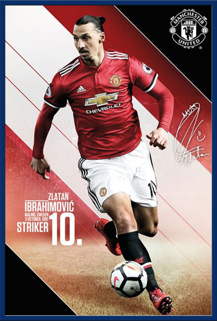 Action Manchester United Fußball Ibrahimovic 17//18 61x91,5 cm Poster