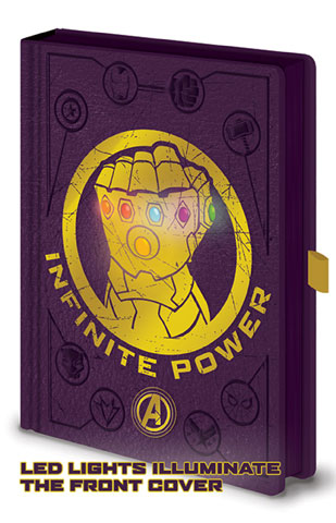 Avengers - Infinity War - Luxus-Notizbuch - Gauntlet LED