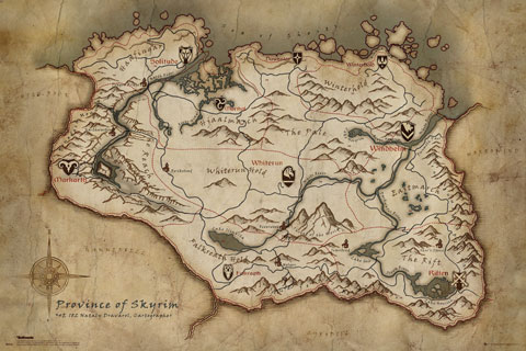 Skyrim - Poster - Map