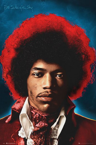 Jimi Hendrix - Poster - Both Sides Of The Sky