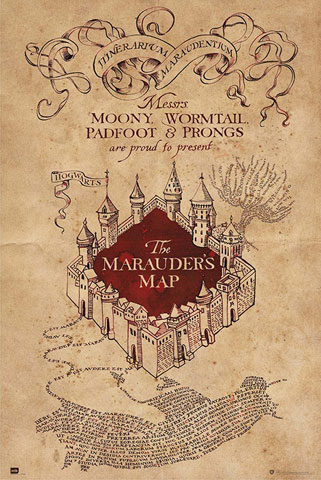 Harry Potter - Poster - Hogwarts - Marauders Map