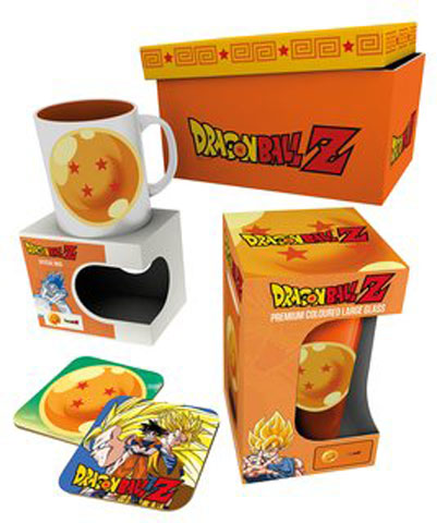 Tasse Glas Geschenkset 4 Star Dragon Ball Z Untersetzer