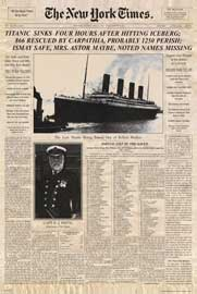Poster - Titanic Newspaper