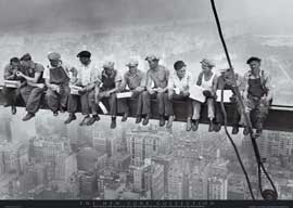 New York Lunchtime, Men On Girder New York