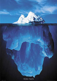 Poster - Motivational Hidden Depths, Iceberg