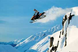 Poster - Motorsport Snowmobile Jump