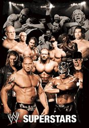 Poster - Wrestling WWE - Collage 3D Poster