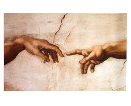 Poster - Michelangelo Creation Hands