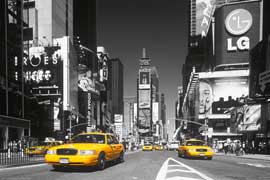 Poster - New York Times Square Yellow Cab