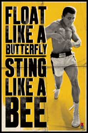 Poster - Ali, Muhammad Float Like a Butterfly