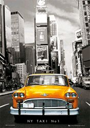 Poster - New York Taxi No 1 - 3D Poster