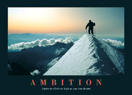 Poster - Motivational Ambition, Climb as high