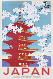 Poster - Affiche - Vintage Japan Railways