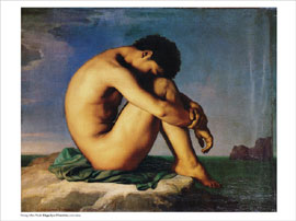 Poster - Flandrin, Hippolyte Young Man Nude