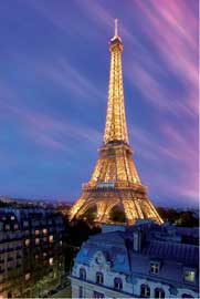 Poster - Paris Eiffelturm by Dawn
