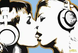 Poster - Steez DJ Girls, Kiss