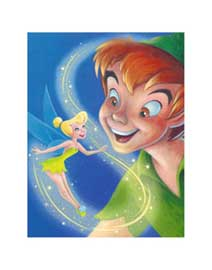 Disney Tinker Bell and Peter Pan