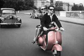Poster - Paris scooter Vespa