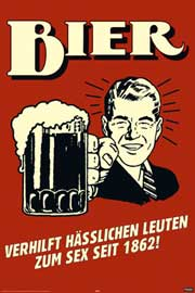 Poster - Beer German Retro Spoof