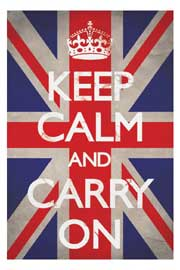 Poster - Keep Calm Union Jack