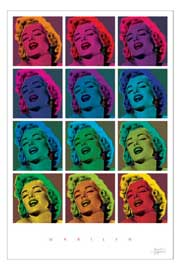 Poster - Monroe, Marilyn Pop Art Squares