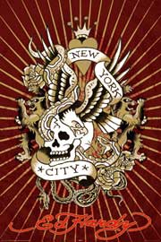 Poster - Ed Hardy New York City Skull