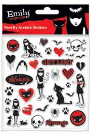 Poster - Emily The Strange Stickerset (Acetate Pack)