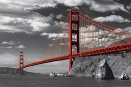 Poster - San Francisco Golden Gate Bridge Colorlight