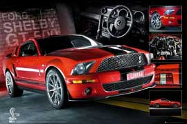 Poster - Mustang Easton - Red