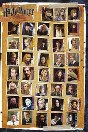 Poster - Harry Potter 7 - Characters