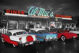 Poster - Al Mac's Diner colourlight Foto