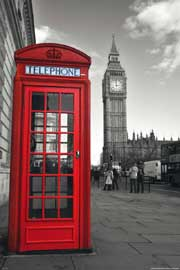 London Phonebox Colourlight Mousepad 29