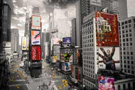 Poster - New York Times Square 2 colourlight