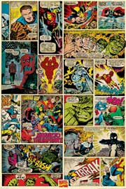 Poster - Marvel Retro Comic Panels