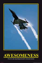 Poster - Motivational Awesomeness Jet