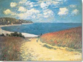 Poster - Monet, Claude Meadow Road to Pourville