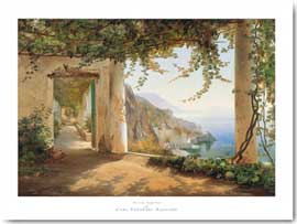 Poster - Aagaard, Carl Frederic View to the Amalfi Coast
