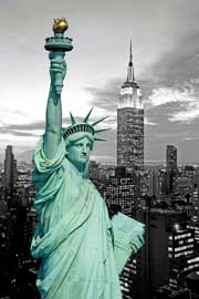 Poster - New York Freiheitsstatue Colourlight