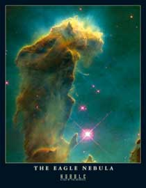 Poster - Hubble-Nasa,  The Eagle Nebula